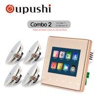 Популярные умный дом аудио фоновая музыка система Bluetooth цифровой усилитель стены усилитель с сенсорным ключ карты SD Usb