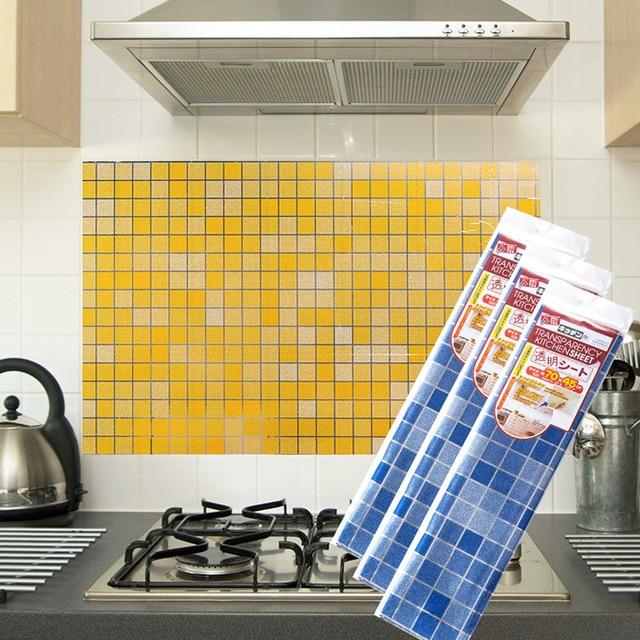 Wallpaper Mosaik Dapur Anti Minyak Stiker Dinding Suhu Tinggi Tahan Air