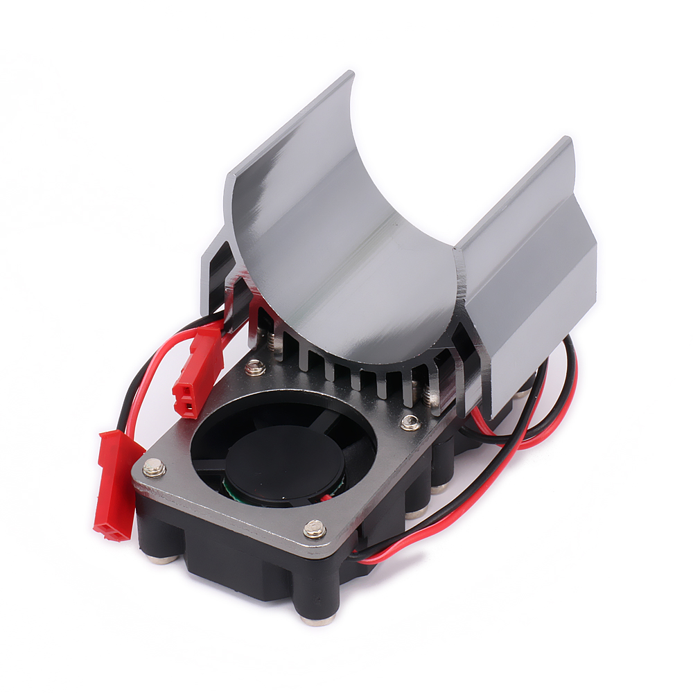 540/545/550 Size Motor Heat Sink With Fan Cooling Head Vent Top JST For 1/10 RC Model Car HSP HPI Wltoys Himoto Tamiya Heatsink