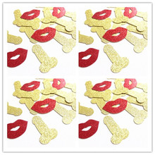 Omilut 50pcs Hen Party Bride Penis Confetti Funny Single Adult Hen Night Bachelor Party Wedding Decor Toys Hen Party Supplies