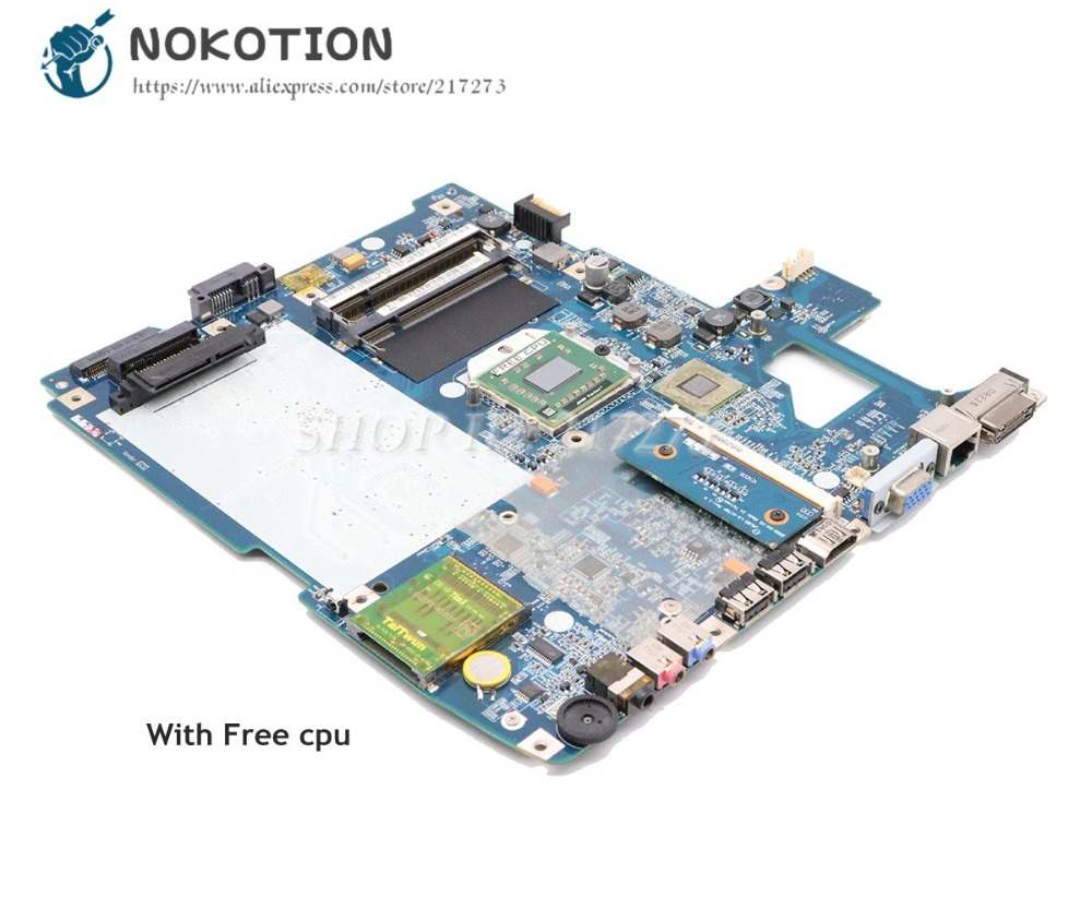 NOKOTION MBARS02001 MB.ARS02.001 Laptop Motherboard For Acer Aspire 5530 MAIN BOARD JALB0 LA-4171P DDR2 Free CPU