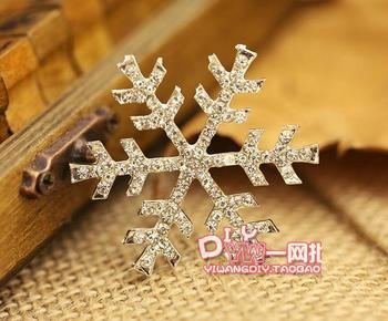 100pcs/lot,38mm Flat back rhinestone metal buttons Wedding Button embellishments,Snow Christmas decoration accessories Wholesale