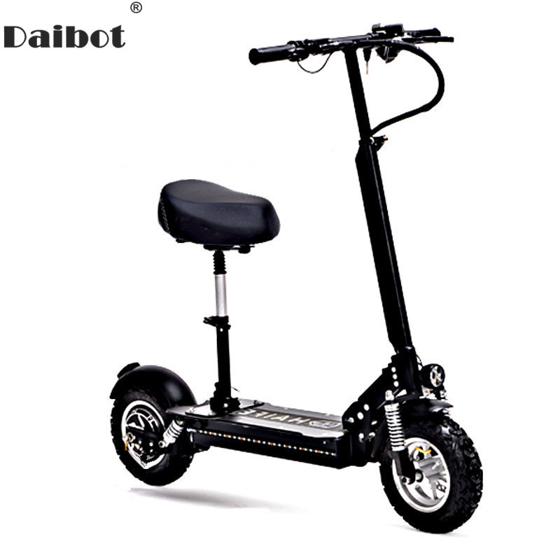 Daibot 10 Inch Powerful Electric Bike 48V Two Wheels Electric Scooters Max Speed 60KM/H Folding Electric Scooter 1000W Adults