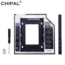 """CHIPAL Универсальный SATA 3,0 2nd HDD Caddy 9,5 мм для 2,"""" 2 ТБ SSD чехол жесткий диск корпус со светодиодный для ноутбука DVD-ROM Оптический отсек"""