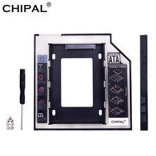 "CHIPAL Universal SATA 3,0 2nd HDD Caddy 9,5mm para 2,5 ""2 TB SSD carcasa de disco duro con LED para portátil DVD-ROM Bahía óptica(China)"