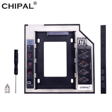 "CHIPAL Evrensel SATA 3.0 2nd HDD Caddy 9.5mm için 2.5 ""2 TB SSD Durumda sabit disk Muhafaza ile LED laptop için DVD-ROM Optik Bay(China)"
