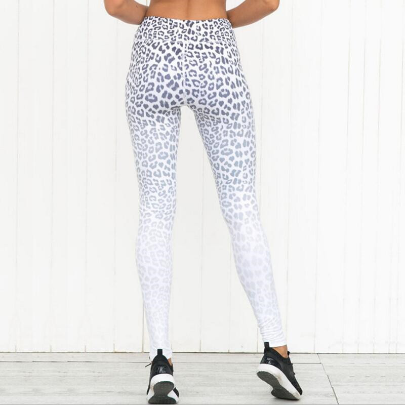 bc36f7c9a4b86 FASYOO Leopard Print Women Yoga Pants High Waist Running Tights Leggings  Elastic Femme Compression Fitness Trousers -in Yoga Pants from Sports ...