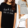 Women's Summer Casual Plants Are Friends Pattern O Neck Short Sleeve T-shirt Tee