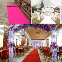 1 m Wide X 25 M/roll Fashion Wedding Aisle Runner Carpet Non -woven Wedding T Station Decoration Carpets Shooting Props