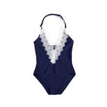Dollplus Baby Girls One Pieces Swimsuit Bikini Bathing Suits Cute Lace Swimwear Toddler Infant Child