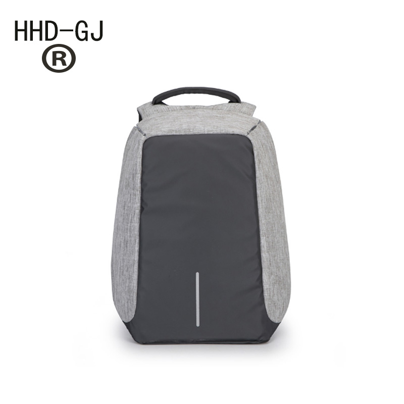 HHD-GJ Anti-theft Waterproof 17.3 Laptop Backpack Men External USB Charge Notebook Backpack for Women 15.6 Computer bag 2017