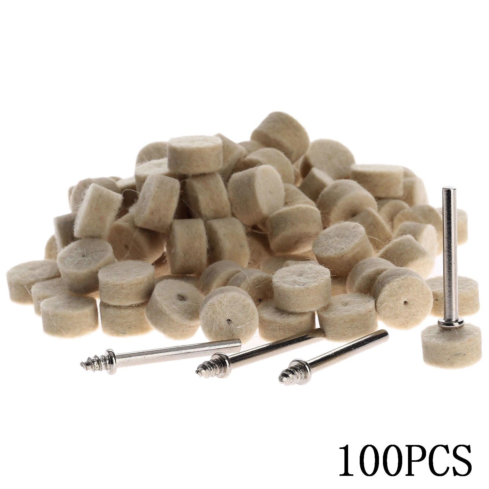 4 Stücke Shanks Für Dremel Dreh Werkzeug Dremel Werkzeuge 50 Stücke Wolle Filz Polieren Polieren Rad Schleifen Polieren Pad