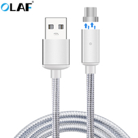 OLAF Magnetic Type C USB Cable 2.4A Fast Charger USB Type-C Cable For Xiaomi Mi5 5s Huawei Nexus 5X 6P OnePlus Samsung S8 plus