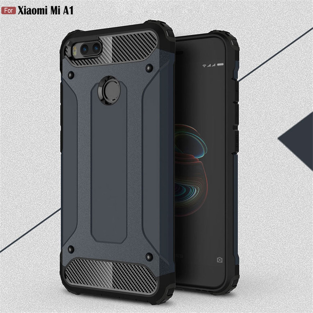 JFVNSUN For Xiaomi Mi A1 Global Version Case Hybrid PC + Rubber ShockProof Armor Protective Case For Xiaomi Mi A1 miA1 5X Cover