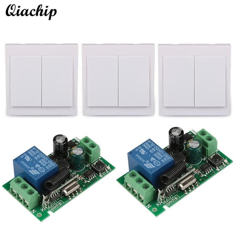 433 Mhz Universal Wireless Remote Control Switch AC 110V 220V 1CH RF Relay Receiver 433Mhz 86 Wall Panel Remote Transmitters Diy ac 85v 250v 1ch rf wireless remote control switch system 1 transmitters