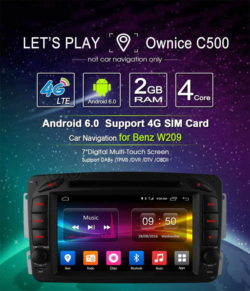Android 6.0 Car audio DVD player GPS For Me/rcedes B-ENZ C/LK W209 W203 W168 W208 W463 W170 Vaneo Viano Vito E210 C208