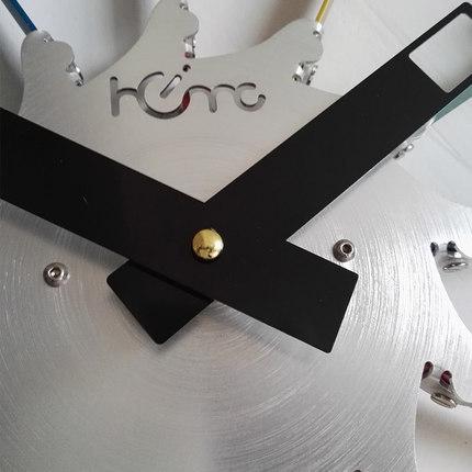 Modern Design Silent sd Big Wall Clock Quartz Saat 100% Colorful Metal Watch Fashion Home Decor Reloj living Room16 Inch 20 Inch