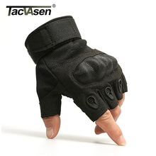 TACVASEN Men Half Finger Gloves Army Military Tactical Gloves Motocyce