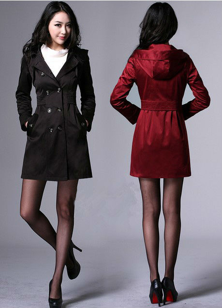 2013 Fashion Womens Autumn Slim Double Breasted Dust Coat OL Trench Overcoat Long windbreak Outerwear Clothes Free  Shipping