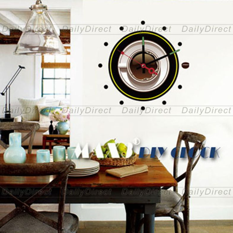 Wholesale Large Frameless Diy Wall Stickers Clock Creative