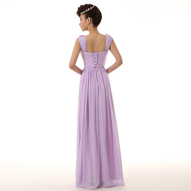 turquoise green plus size lilac lace up back bridesmaid floor length  bridesmaids dresses long blue occasion women dress B2696