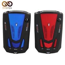 V7 Car Radar Detector 360 Degree 16 Band Scanning LED Display Laser Detectors English/Russian Speed Voice Alert Warning Blue/Red