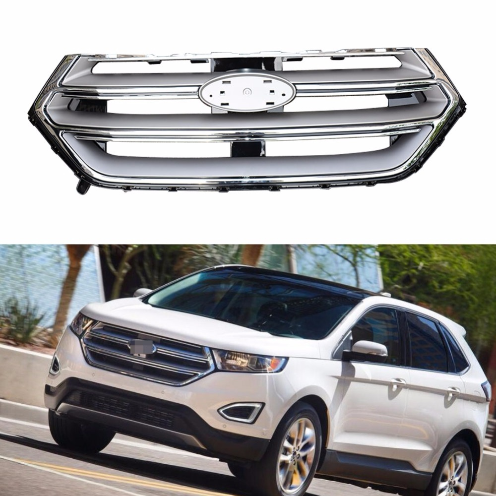 1Pcs Chrome Grill Front bumper Upper Grille grill New For Ford Edge 2.7T  2015 2016-in Racing Grills from Automobiles & Motorcycles on Aliexpress.com  ...