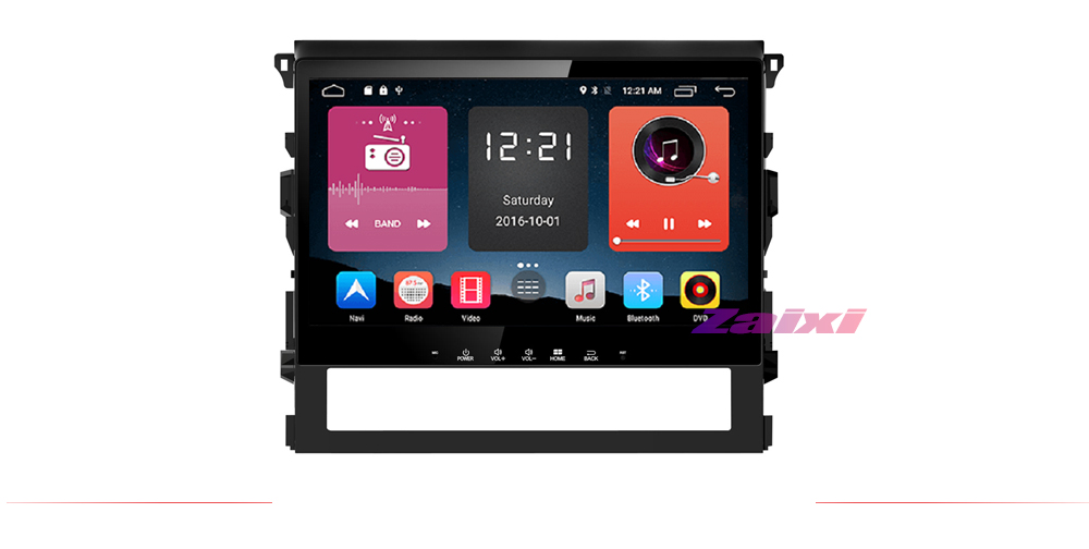 ZaiXi For Toyota Land Cruiser 2016~2019 Android Car GPS Multimedia player 2 Din WIFI GPS Navigation Autoradio Radio Maps BT FM 7
