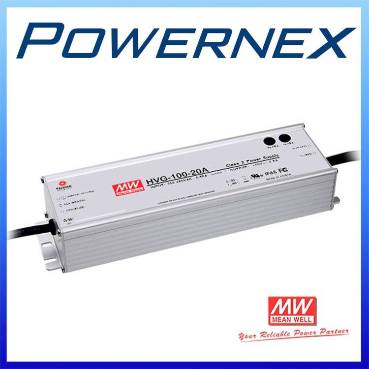 цена на [PowerNex] MEAN WELL original HVG-100-24D 24V 4AA meanwell HVG-100 24V 96W Single Output LED Driver Power Supply D type