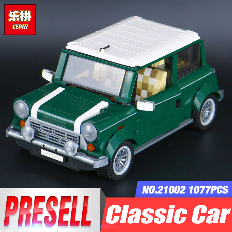 Lepin 21002 1077pcs Technic Series Cooper Vehicle LegoINGly Model 10242 Building Block Bricks Funny Toys For Present free shipping lepin 21002 technic series mini cooper model building kits blocks bricks toys compatible with10242