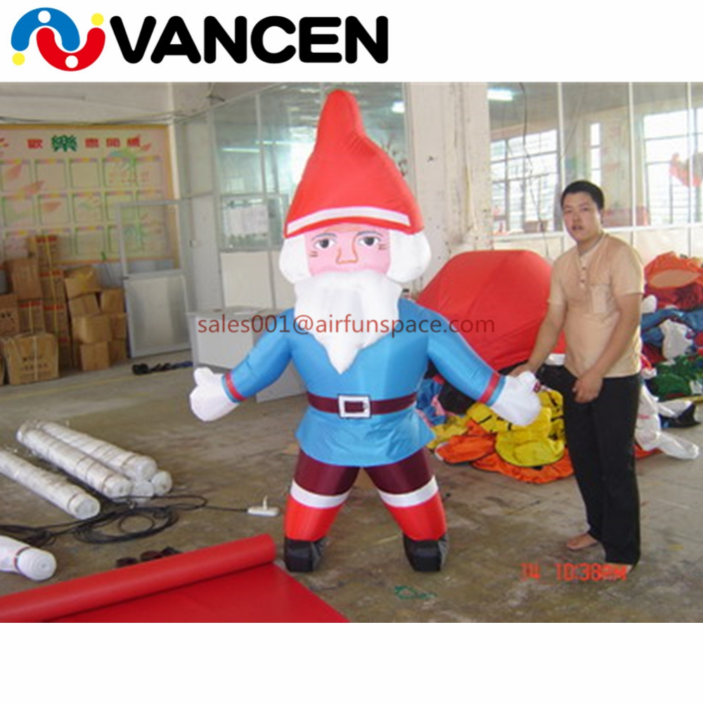 Home use 2m inflatable father christmas decoration lows price inflatable santa claus with free air blower