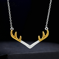 Sweey Dropshipping Jewelry Gift Deer Antler Women Necklace in Steling Silver 925 for Ebay/Amazon/Etsy Gift Valentines Gift