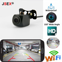 Mini WIFI Reversing Camera Car Wireless Rear View Dash Cam Star Night Vision Tachograph For iPhone Android Waterproof DC 12V 24V
