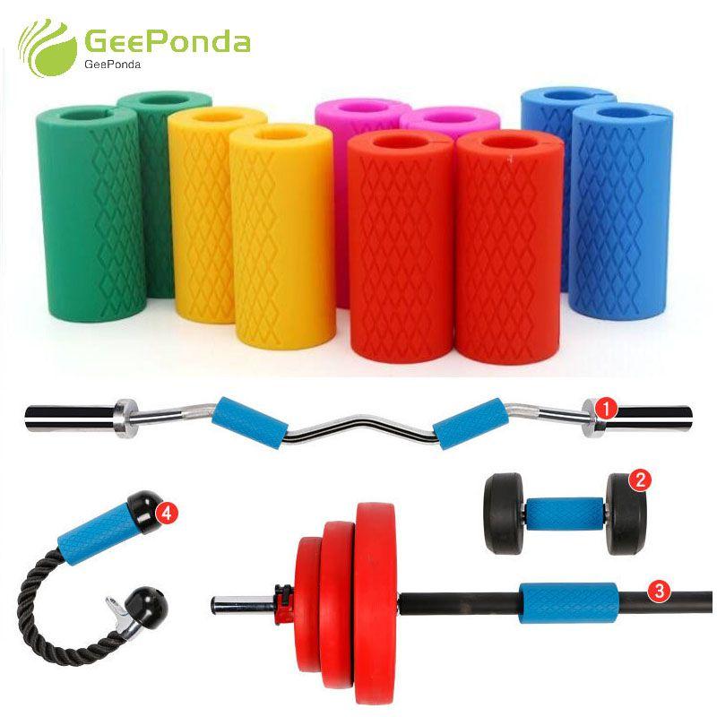 GeePonda 1 para Barbell Hantel Griffe Dicke Bar Griffe Silikon Anti-slip Schützen Pad Pull Up Gewichtheben Fett Grip unterstützung