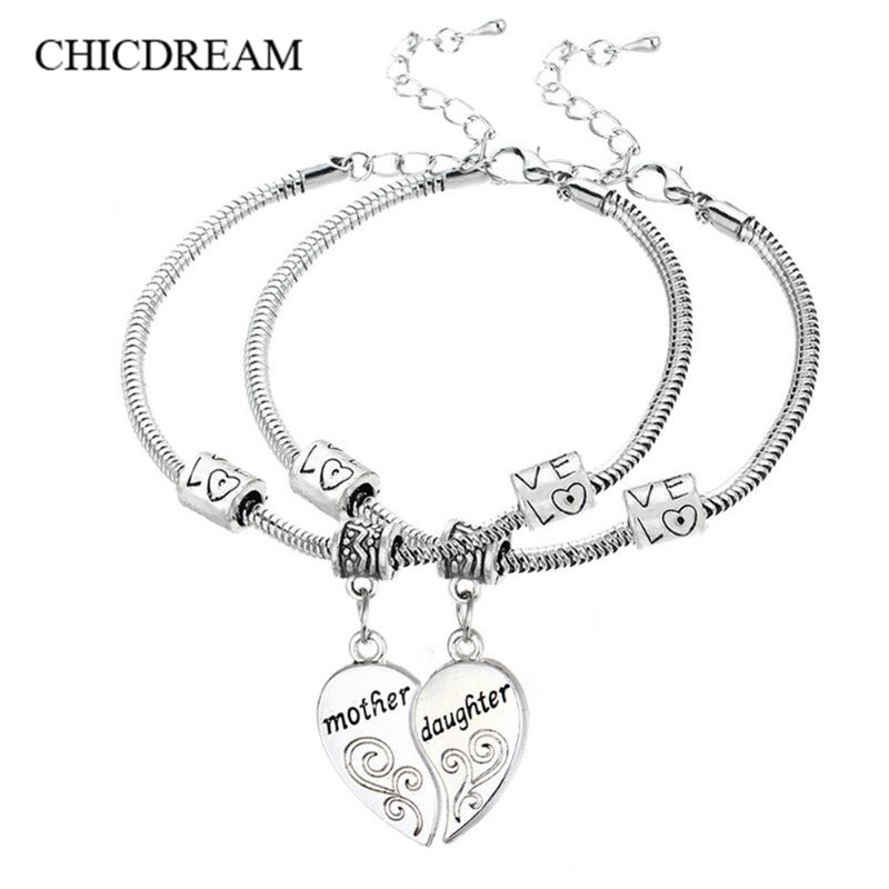 Mother Kids Gifts Mom Daughter Brcelets 2018 Clothes Family Matching Outfits Accessories Charms Chains Bracelets Bangle In Chain Link From