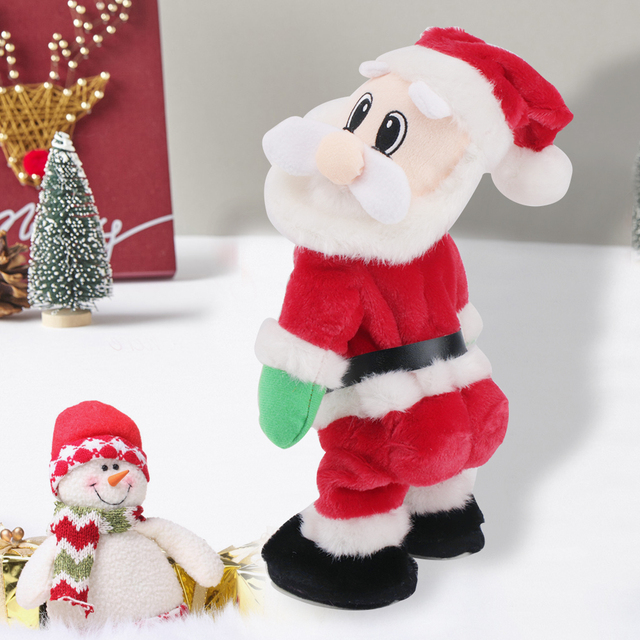 electric dancing christmas santa claus musical toy doll xmas new years kids children gifts christmas decoration - Musical Animated Christmas Decorations