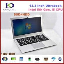 Win10 13.3 »Нетбук Intel Core i5 5200U двухъядерный сверхтонкий ноутбук HDMI WI-FI Bluetooth 8 ГБ Оперативная память + 256 ГБ SSD 2.2 ГГц 3 м Кэш F200