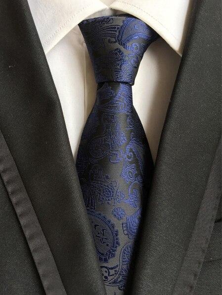 QXY vintage pánská kravata polyesterová hedvábná kravata šaty obchodní gravata muži kravaty kešu květiny ležérní oblek s kravatou