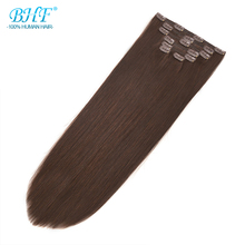 BHF Clip in Human Hair Extensions 100g Natural Hair Clip Extensions Full Head Peruvian Straight Human Hair Clip in Extensions