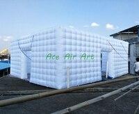 2017 большой надувной Складная палатка, куб форма палатка шатер надувной, надувной квадратный для продажи