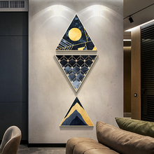 Nordic INS Personality geometry home decoration hotel office mural combination atmospheric luxury abstract decorative painting