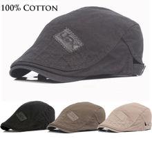 New Cotton Men Beret Cap  Adjustable Hats  Men Ivy cowboy Hat Golf Driving Winter Flat Cabbie  Newsboy Caps