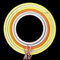 2 ШТ. 3 Вт-9 Вт Красный Синий Белый Розовый Angel Eyes СВЕТОДИОДНЫЕ Фары Дневного свет DRL COB Лампа 12 в ПОСТОЯННОГО ТОКА В-24 В для DIY Автомобильные Фары Декора лампы