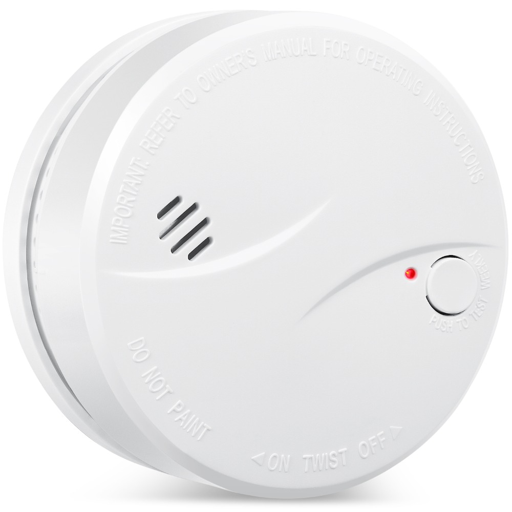 HEIMAN 10 Years Litetime Built In Lithium Battery Independent Smoke Detector Smoke Alarm Fire Alarm With Photoelectric Sensor