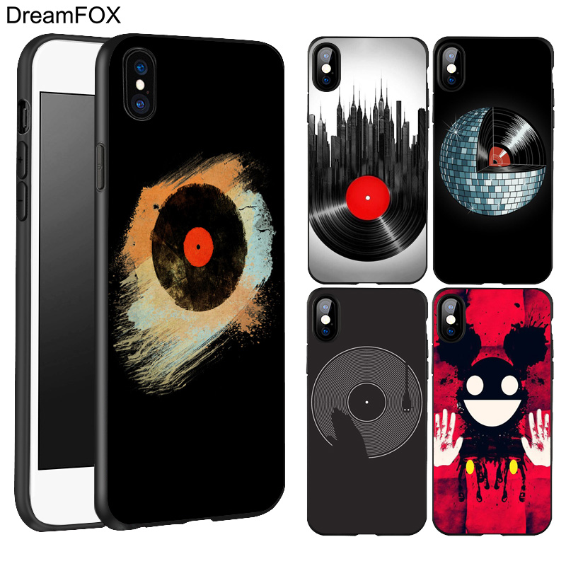 DREAMFOX L145 Dj Music Black Soft TPU Silicone Case Cover For Apple iPhone X 8 7 6 6S Plus 5 5S 5G SE