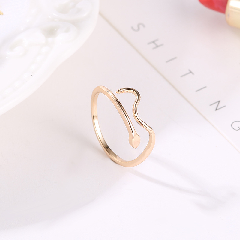 New Opening Stainless Steel Snake Ring For Women Trendy Wedding Rings Gold For Couples Adjustable Finger Jewelry