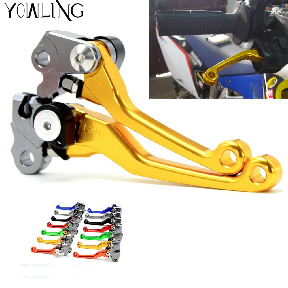 Pit Dirt Bike Brake Clutch Lever Handle For suzuki RM125 RM250 1996 1997 1998 1999 2000 2001 2002 2003 CNC Pivot Brake Clutch