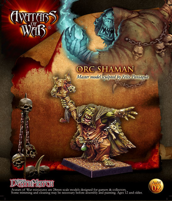 WFB Orc Orc Schamane 28mm