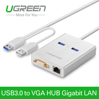 UgreenUSB 3 0 To VGA Video Display Graphic Card External Cable Adapter 1000 Gigabit Ethernet 2