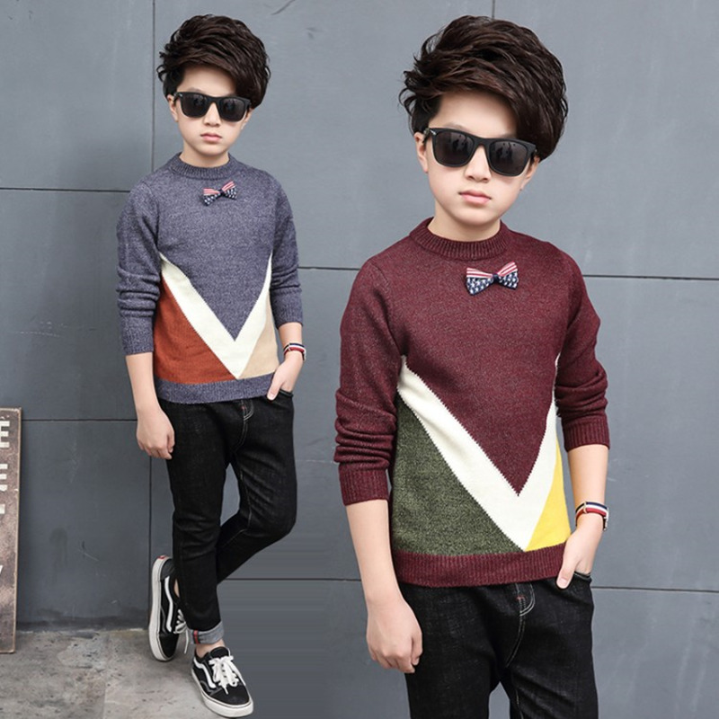 Kids Sweaters Boys Sweaters Children Pullover 2018 Autumn Winter Baby Boy Knitted Top Children Boys Sweater Kids Clothes 4-11T 2018 autumn winter knitted sweaters pullovers warm sweater baby girls clothes children sweaters kids boys outerwear coats